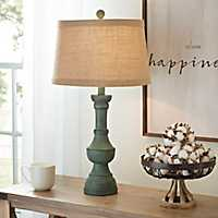 Antique Teal Table Lamp