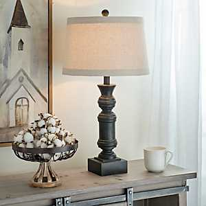 Black and Brown Wash Table Lamp