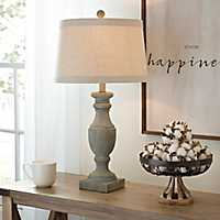Blue and Gray Wash Table Lamp