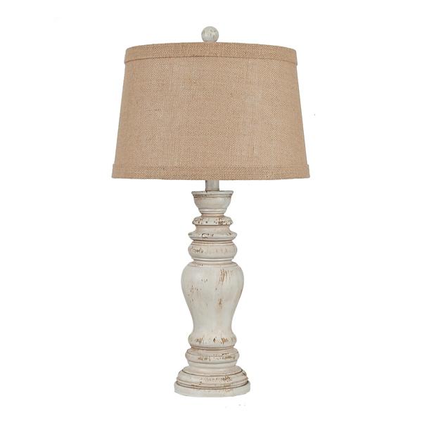 natural earthen cream table lamp