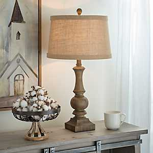 Woodgrain Table Lamp