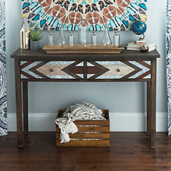 Serenity Chevron Console Table