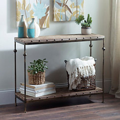 Gabrielle Dark Natural Console Table