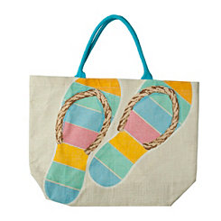 Tropical Flip Flop Tote Bag