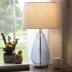 Blue Waterdrop Glass Table Lamp