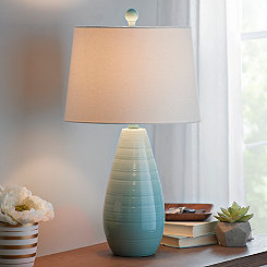 Blue Ceramic Teardrop Table Lamp