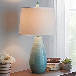 Blue Ceramic Teardrop Table Lamp