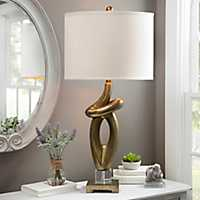 Gold Leaf Abstract Table Lamp