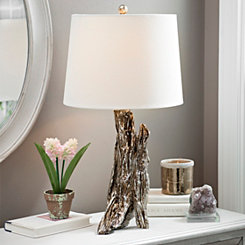 Brown Bark Table Lamp