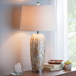Mother of Pearl Leaf Table Lamp