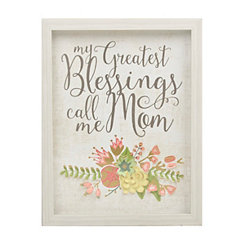Call Me Mom Flowers Framed Art Print