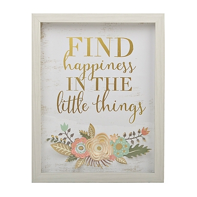 find happiness flowers framed art print