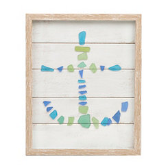 Seaglass Anchor Shadowbox