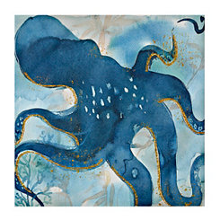 Spotted Octopus Canvas Art Print