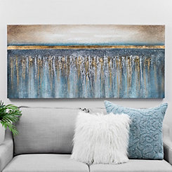 Blue and Gold Sparkle Canvas Art Print