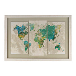 No Borders Triptych Framed Art Print