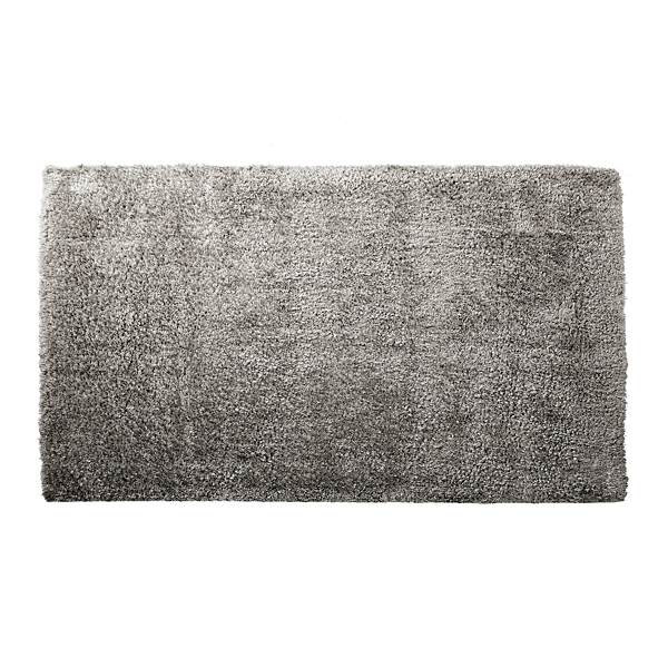 Gray Shag Area Rug, 5x7