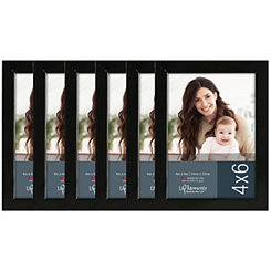 Black Wood 6-pc. Picture Frame Set, 4x6