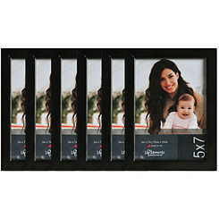 Black Wood 6-pc. Picture Frame Set, 5x7
