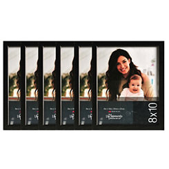 Black Wood 6-pc. Picture Frame Set, 8x10