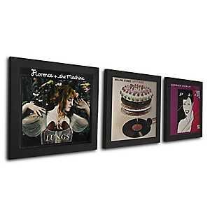 Black Vinyl Record Frames, Set of 3