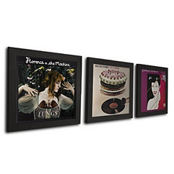 Black Vinyl Record Frames, Set of 3