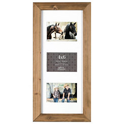 Natural Wood 3-Opening Collage Frame