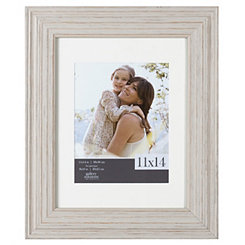 Rustic Whitewash Picture Frame, 11x14