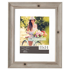 Wood Grain Whitewash Picture Frame, 11x14