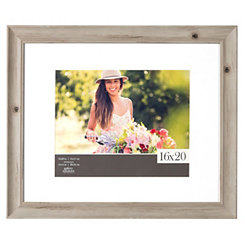 Wood Grain Whitewash Picture Frame, 16x20