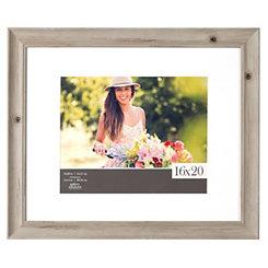 Wood Grain Whitewash Picture Frame, 16x20