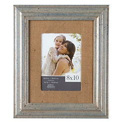 Pewter and Burlap Picture Frame, 8x10