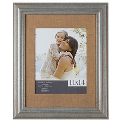Pewter and Burlap Picture Frame, 11x14