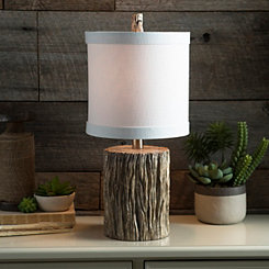 Natural Tree Trunk Table Lamp