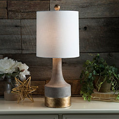 Antique Gray Brass Table Lamp