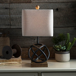 Black Geometric Sphere Table Lamp