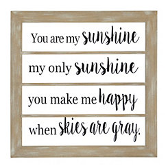 You Are My Sunshine Windowpane Plaque