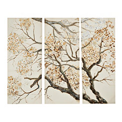 Wintersweet Canvas Art Prints, Set of 3