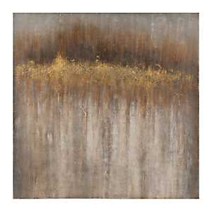 Gray and Gold Sparkle Canvas Art Print