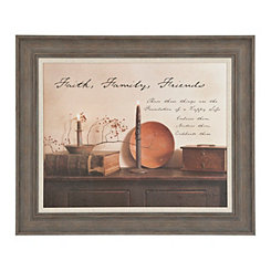 Faith Family Friends Framed Art Print