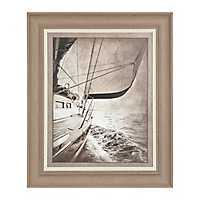 Sailing in Sepia Framed Art Print