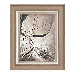 Sailing in Sepia Framed Art Print