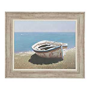 Weathered Boat Framed Art Print