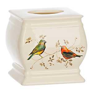 Painted Birds Tissue Holder