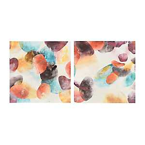 Abstract Cells Canvas Art Prints, Set of 2