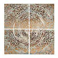 Ancient Tiles Canvas Art Prints, Set of 4
