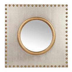 Studded Silver Wall Mirror
