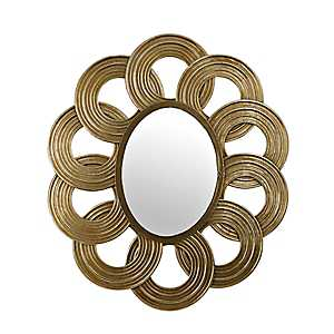Two-Tone Metallic Rings Wall Mirror