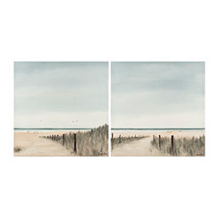 Sandy Scene Canvas Art Prints, Set of 2