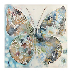 Blue Butterfly Canvas Art Print